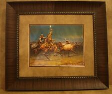 """ANDY THOMAS FRAMED """"THE WILD ONE"""" OPEN EDITION PRINT **COWBOY & HORSE**"""