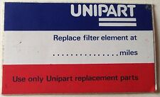 Land Rover Defender 90 110 V8 Unipart Service due at.. Bulkhead Sticker Decal