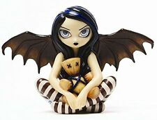 4.75 Inch Resin Voodoo In Blue Fairy Girl with Doll and Wings Figurine