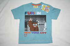 Moshi Monsters girl boy T-shirt cotton blend blue short sleeve top 4-5 years