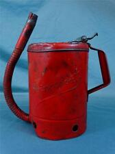Vintage Red Swingspout 1 Gallon Oil Can