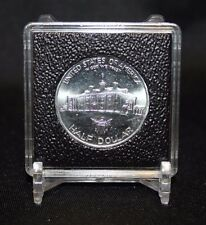 30mm Half Dollar 2x2 Coin Display Lighthouse QUADRUM INTERCEPT Capsule + Stand
