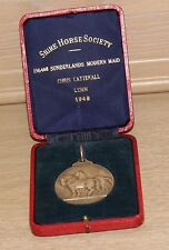 Antique Silver Heavy Shire Horse Society Medal