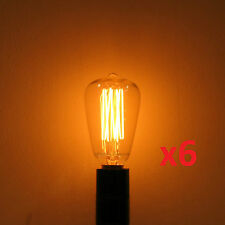 6-Pack 25W Edison ST-12 Reproduction Antique Light Bulb E12 Candelabra Base 120V