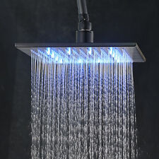 12-inch LED Light Rainfall Top Shower Head Oil Rubbed(black) Over-head Sprayer