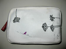 CLARINS CANVAS BIRDS MAKE-UP BOX BAG TOILETRIES Clutch PURSE TRAVEL Cosmetics