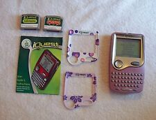 LEAG FROG iQUEST LEARNING SYSTEM TWO EDUCATONAL CARTRIDGES AND ACESSORIES!!