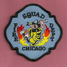 CHICAGO FIRE DEPARTMENT SQUAD COMPANY 2 PATCH POPEYE