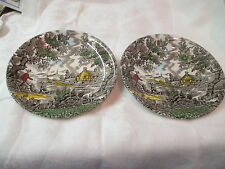 Vintage England Myott 2 over sized Saucers The Hunter