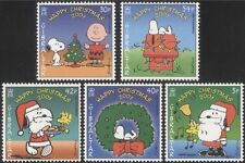 Gibraltar 2001 Christmas/Snoopy/Peanuts/Greetings/Cartoons/Dogs 5v set (b3418)