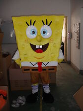 Spongebob Mascot Costume Fancy Dress  Adult Size  Free Shipping