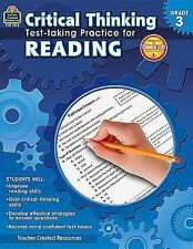 Critical Thinking: Test-Taking Practice for Reading Grade 3 by Julia McMeans...