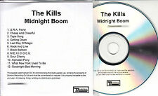 THE KILLS Midnight Bloom 2008 UK 12-track promo test CD + press release
