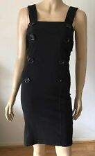 WEST & WEBB Black Strappy Button Front Tight Party Dress Size 8