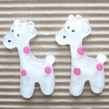 "US SELLER- 10pc x 1.5"" Resin Giraffe Flatback Beads for Bows/Zoo/Appliques SB78P"