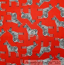 BonEful Fabric Cotton Quilt Red Black White B&W Zebra Stripe Jungle Safari SCRAP