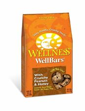 Wellness Wheat Free Oven Baked Biscuits for Dogs, WellBars Crunchy Peanuts and H
