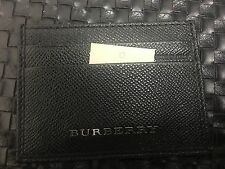 New Authentic Burberry  Logo Men Credit Card Holder Wallet Slot $299 Black