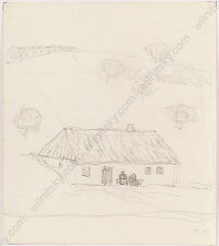 """Broncia Koller-Pinell (1863-1934) """"Landscape Study"""", Drawing, 1910s"""