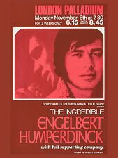 "Engelbert Humperdinck Palladium  16"" x 12"" Reproduction Concert Poster Photo"