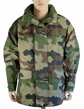 French CCE Woodland Camo Waterproof Jacket 120cm, Genuine Army Vintage, Unissued