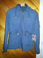 NWT *RARE* BB DAKOTA NICOLA JACKET ASO BELLA SWAN IN TWILIGHT MEDIUM IN BLUE