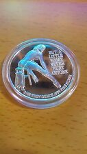 Nude woman pussycat  round  One Troy Ounce .999 Fine Silver beauty adult coin