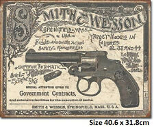 Smith & Wesson Government Contracts Tin Sign 2014 Made in USA