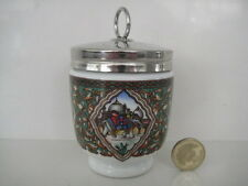 ROYAL WORCESTER KING SIZE DOUBLE EGG CODDLER JAIPUR ENAMELS ORNATE ELEPHANTS
