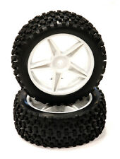 C24167WHITE Pre-Mnted 1/10 Buggy 5 F. 32mm All Terrain Q4024 12mm Hex(OD 87mm)
