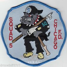 "Chicago  Squad-5, IL (5"" x 5"" size) fire patch"