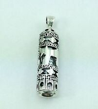 Mezuzah Chai Pendant  925 Sterling Silver Parchment Scroll Included