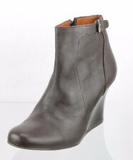 Women's Lanvin Paris Brown Leather Ankle Boots Size 37 US 7 M NEW RTL $690