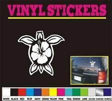 HIBISCUS SEA TURTLE Flower tribal hawaiian window car truck vinyl sticker decal
