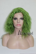 Hair Cap+Joker Wig The Dark Knight Joker Cosplay Short Grass Green Fluffy Curly