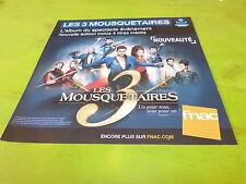 COMEDIE MUSICALE - LES 3 MOUSQUAIRES!!!! PLV 30X30 CM !!FRENCH PROMO ADVERT!!