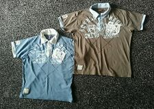 2 x mens 'Smith and Jones' size L t-shirt tops. Blue & brown. Vgc