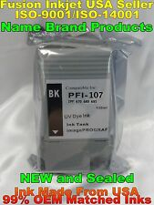 PFI-107 BK black ink cartridge for canon ipf 670 680 685 770 780 785 tank notoem