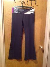 $98 LULULEMON Black/GrayPurple  Groove Pants Yoga Fitness EUC Sz 8