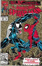 AMAZING SPIDERMAN 375...NM-...1993...Venom vs Spidey!...Gold Foil...Bargain!