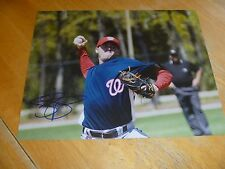 Drew Storen Washington Nationals Signed/Auto 8x10 Photo  COA   Mariners