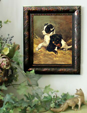 Emms IN THE NURSERY Dog Hunting Horse Puppy Print Vintage Style Framed