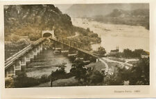 Harpers Ferry WV * View of RR Bridge and Tunnel Real Photo  ca. 1960