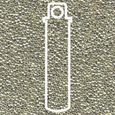 Miyuki Round Seed Beads 8.2g tube 15/0 Galvanised Silver