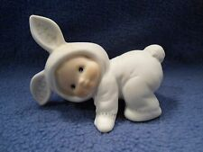 Ruth Morehead Enesco Baby in Bunny Suit Porcelain Figurine