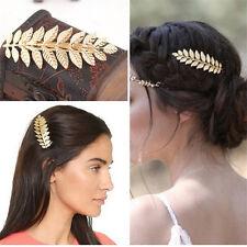 Women Fashion Metal Leaf Hair Clip Crystal/Pearl Hairpin Barrette Hair Accessory