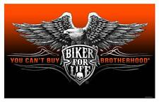 DELUXE BIKER 3 X 5 FLAG - BROTHERHOOD FOR LIFE 3 X 5 MOTORCYLE FL626 NEW eagle