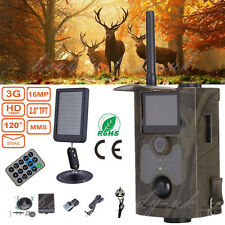 HC-550G 16MP 3G MMS 940nm PIR Game Trail Hunting Camera + External Solar Battery