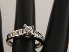 .73 tcw Designer Princess Diamond Engagement Ring F/SI1 eye clean 14k White Gold