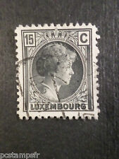 LUXEMBOURG, 1930-31, timbre CLASSIQUE 219, G D CHARLOTTE oblitéré, VF used stamp